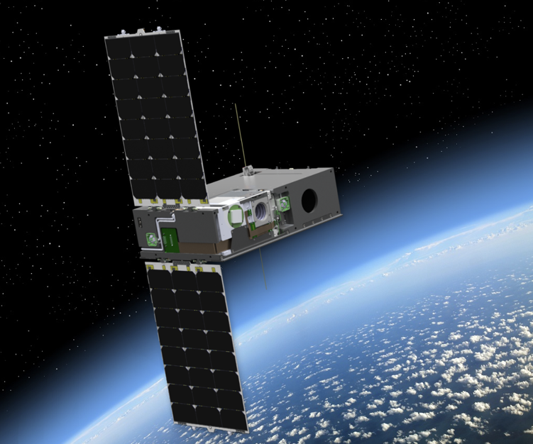 DeMi CubeSat rendering, courtesy Blue Canyon Technologies